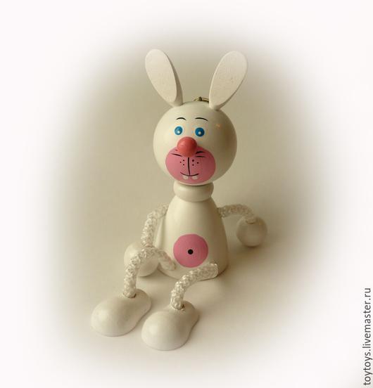 """Игрушки животные, ручной работы. Ярмарка Мастеров - ручная работа. Купить Игрушка """"Заяц"""" на пружинке2. Handmade. Игрушка для детей, игрушка"""
