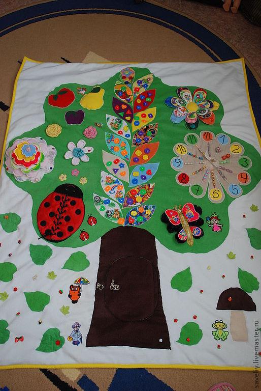 """Развивающие игрушки ручной работы. Ярмарка Мастеров - ручная работа. Купить развивающий коврик """"Чудо-дерево"""". Handmade. Развивающая игрушка"""
