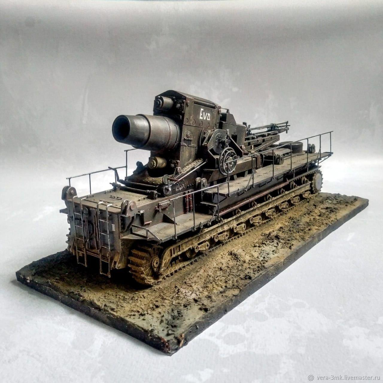 """Диорама """"Карл"""" (заводской индекс Gerät 040), Военная миниатюра, Колпино,  Фото №1"""