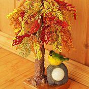 Деревья ручной работы. Ярмарка Мастеров - ручная работа Осеннее дерево из бисера. Handmade.