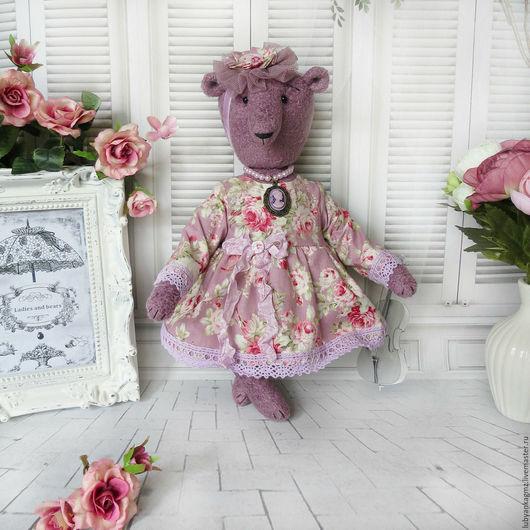 мишка. мишка тедди мишка. медведь. мишка игрушка. игрушка мишка. медвежонок. лиловый сиреневый фиолетовый цвет.  шебби-игрушки. игрушки шебби. салон игрушек леди и медведи