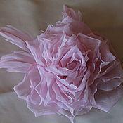 Украшения ручной работы. Ярмарка Мастеров - ручная работа Цветок-брошь из ткани. Handmade.