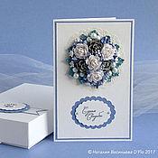 Свадебный салон ручной работы. Ярмарка Мастеров - ручная работа Открытка с шишками на зимнюю свадьбу, в коробочке и с конвертом. Handmade.