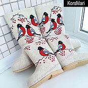 Обувь ручной работы. Ярмарка Мастеров - ручная работа валенки СНЕГИРИ в стиле Family look. Handmade.