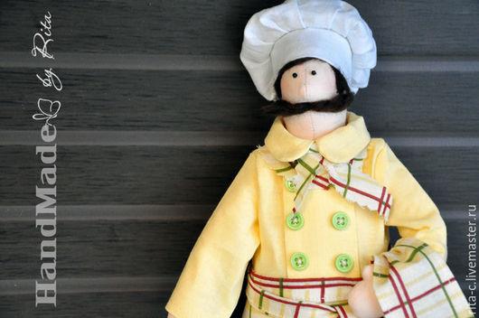 Куклы Тильды ручной работы. Ярмарка Мастеров - ручная работа. Купить повар. Handmade. Комбинированный, профессиональная игрушка, прованс, кухня