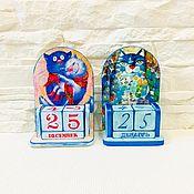 Канцелярские товары handmade. Livemaster - original item Eternal calendar Cats. Handmade.