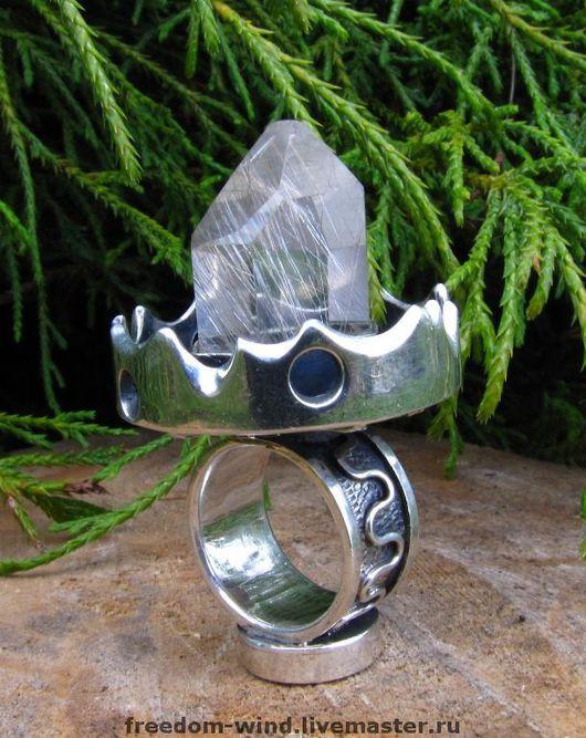 """Кольца ручной работы. Ярмарка Мастеров - ручная работа. Купить """"Кольцо Мага"""". Handmade. Кольцо, гранат, кварц"""