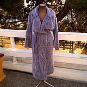 """Одежда ручной работы. Ярмарка Мастеров - ручная работа Пальто вязаное из мохера """"шиншила"""". Handmade."""