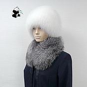 Аксессуары handmade. Livemaster - original item Fur detachable collar fringe Fox fur TK-212. Handmade.