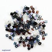 Материалы для творчества handmade. Livemaster - original item 10g Miyuki Beads 3 mm cube mix 13 pebbles Japanese Miyuki beads. Handmade.
