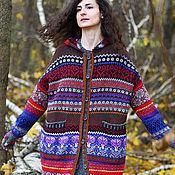 Одежда ручной работы. Ярмарка Мастеров - ручная работа Осень. Кардиган с капюшоном. Handmade.