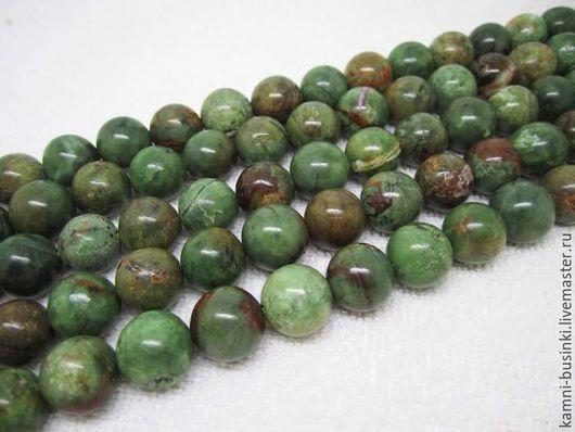 Бусины 14 мм Зеленый Опал натуральный шар. Бусины опала для колье, опал бусины для браслетов, опал бусина для серег.