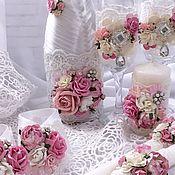 """Свадебный салон ручной работы. Ярмарка Мастеров - ручная работа Свадебный набор """"Нежность"""". Handmade."""