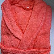 Одежда handmade. Livemaster - original item Coral Terry robe. Handmade.