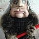 По народному поверью,Баба Яга является сильным оберегом от злых людей и неприятностей.Работа выполнена полностью в ручную.