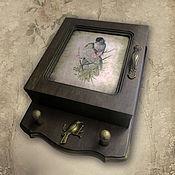 Для дома и интерьера ручной работы. Ярмарка Мастеров - ручная работа Ключница  Птичья трель. Handmade.