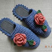 """Обувь ручной работы. Ярмарка Мастеров - ручная работа """"Терракотовые розы"""" тапочки (подошва валяная). Handmade."""