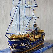 """Сувениры и подарки ручной работы. Ярмарка Мастеров - ручная работа Корабль из конфет """"Мечта"""". Handmade."""