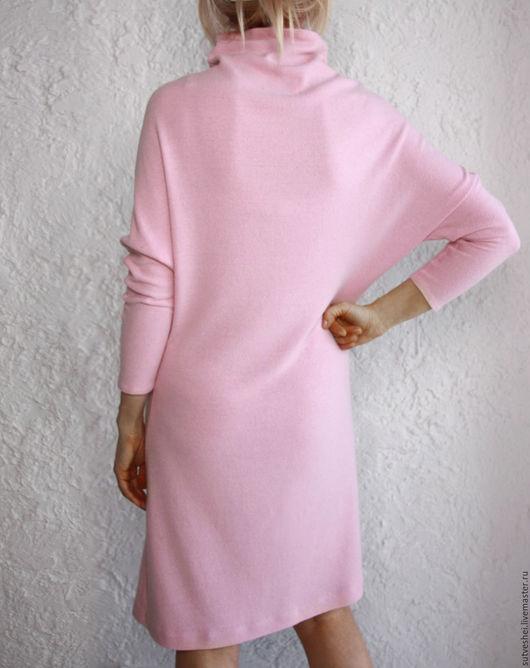 Платья ручной работы. Ярмарка Мастеров - ручная работа. Купить Платье из кашемира Роза. Handmade. Бледно-розовый, кашемир, мода