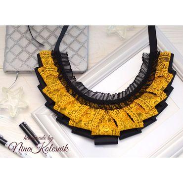 Works for children handmade. Livemaster - original item Lace collar School collar for girls. Handmade.