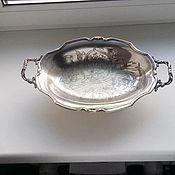 Винтаж ручной работы. Ярмарка Мастеров - ручная работа Ваза-фруктовница, серебрение. Франция. Handmade.