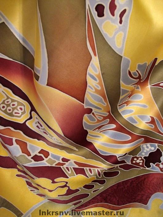 """Шали, палантины ручной работы. Ярмарка Мастеров - ручная работа. Купить Платок """"Осень"""". Handmade. Шейный платок, деревья"""