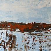 Картины и панно handmade. Livemaster - original item Oil painting water landscape 67H85. Handmade.