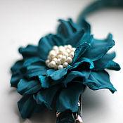 Аксессуары handmade. Livemaster - original item Strap with turquoise flower. Handmade.
