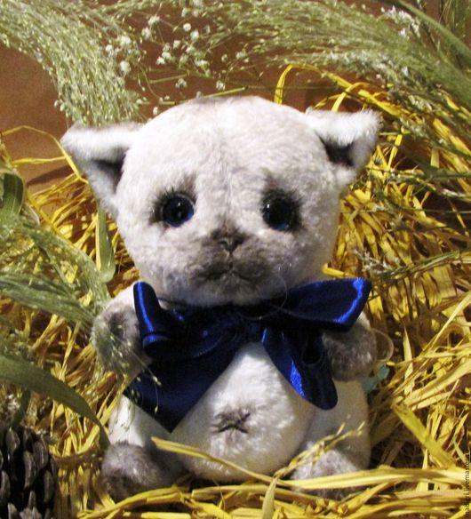 Мишки Тедди ручной работы. Ярмарка Мастеров - ручная работа. Купить котенок сиамский Моня. Handmade. Котенок, игрушка