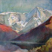"""Картины и панно ручной работы. Ярмарка Мастеров - ручная работа Картина """"Священная гора"""". Handmade."""