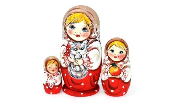 Матрёшка Светлана с Муркой 3м 11см, Народная кукла, Шатура,  Фото №1