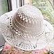 Шляпы ручной работы. Шляпа вязаная. Вязаные радости от Катюши. Интернет-магазин Ярмарка Мастеров. Однотонный, шляпа женская, шляпка