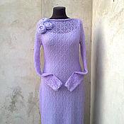 Одежда ручной работы. Ярмарка Мастеров - ручная работа платье вязаное ажурное. Handmade.