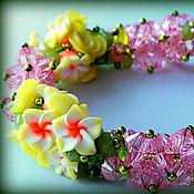 Украшения handmade. Livemaster - original item Necklace beads with stones Polyanka. Handmade.