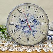 Для дома и интерьера ручной работы. Ярмарка Мастеров - ручная работа Часы гжель. Handmade.