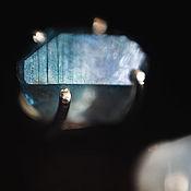 """Украшения ручной работы. Ярмарка Мастеров - ручная работа Серебряные гвоздики с аура-кварцем """"Древние льды - 2"""". Handmade."""