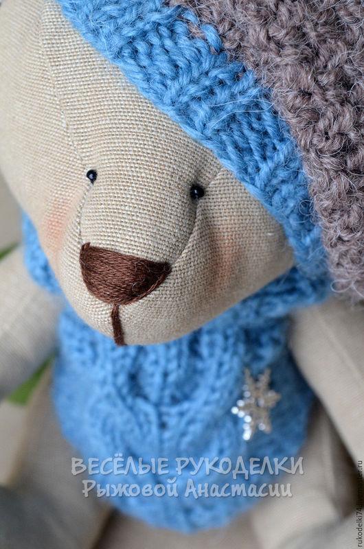 Новый год 2017 ручной работы. Ярмарка Мастеров - ручная работа. Купить Зимний мишка. Handmade. Бежевый, рождество, новогодний сувенир