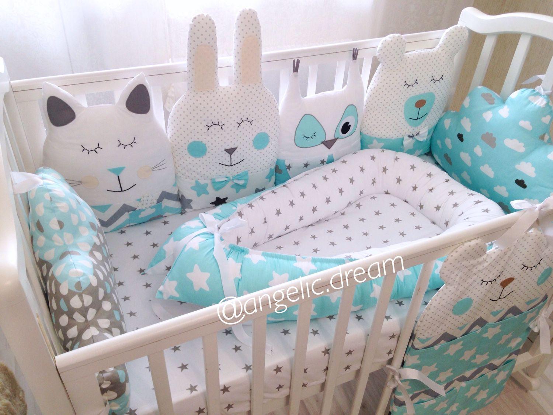 Комплект в кроватку для новорожденного своими руками сшить