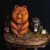 Куклы и игрушки ручной работы. Ярмарка Мастеров - ручная работа Ёжик и Медвежонок. Handmade.