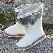 Обувь ручной работы. Ярмарка Мастеров - ручная работа Сапожки зимние в стиле БОХО. Handmade.