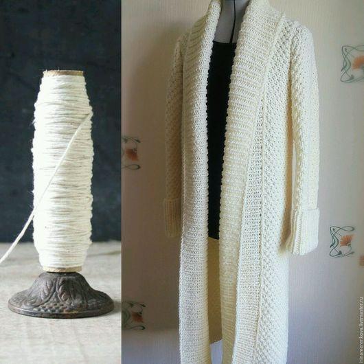 Верхняя одежда ручной работы. Ярмарка Мастеров - ручная работа. Купить Пальто вязаное LA CREMA. Handmade. Вязаный кардиган