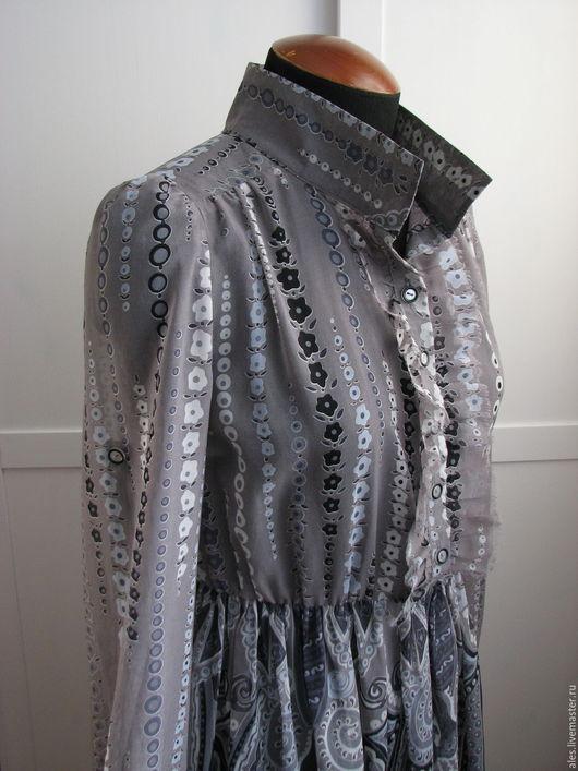 """Платья ручной работы. Ярмарка Мастеров - ручная работа. Купить Платье """"Француженка"""". Handmade. Серый, цветочный орнамент, ткань-купон"""