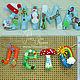 Комплект интерьерных гирлянд `Времена года` для декора детской комнаты.