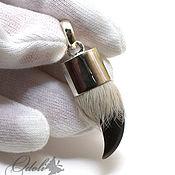 Украшения handmade. Livemaster - original item Men`s amulet of silver with a wolf`s claw on the cord. Handmade.