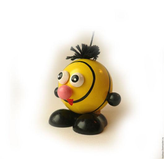 """Игрушки животные, ручной работы. Ярмарка Мастеров - ручная работа. Купить Игрушка """"Пчела"""" мал на пружинке. Handmade. Игрушка для детей"""