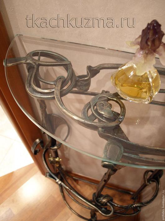 Мебель ручной работы. Ярмарка Мастеров - ручная работа. Купить Кованый туалетный столик. Handmade. Ковка, кованые изделия, стекло