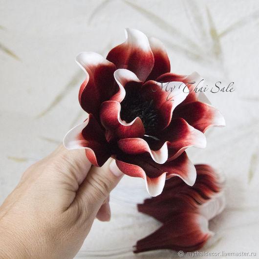 Лепестки бело- коричневые загнутые My Thai Материалы для флористики из Таиланда