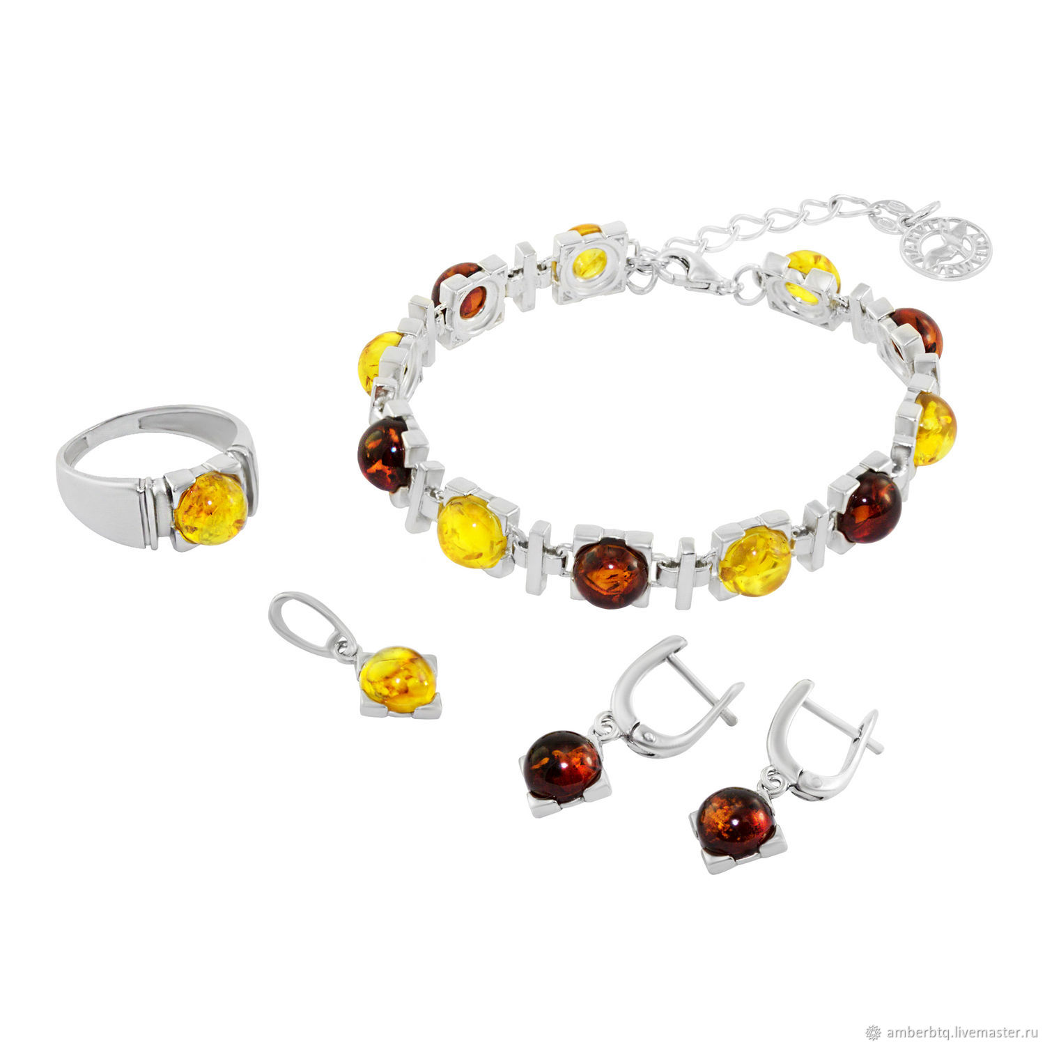 Set silver with natural amber ' Cassandra', Jewelry Sets, Kaliningrad,  Фото №1