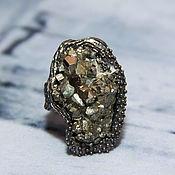 Украшения handmade. Livemaster - original item 925 sterling silver ring with untreated pyrite. Handmade.