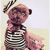 Куклы и игрушки ручной работы. Ярмарка Мастеров - ручная работа мишка мим Жожо. Handmade.
